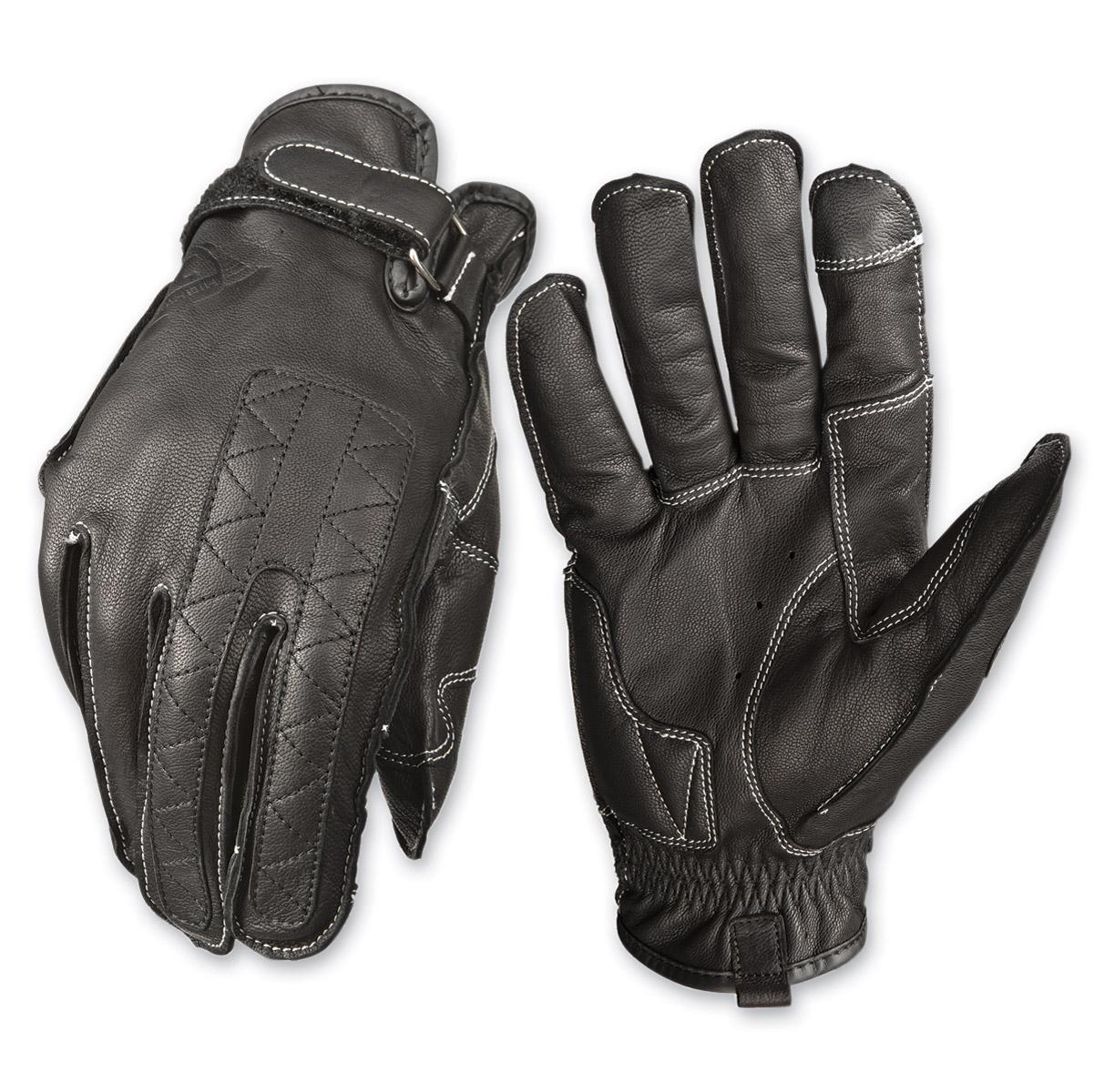 Highway 21 Men's Pitt Black Leather Gloves