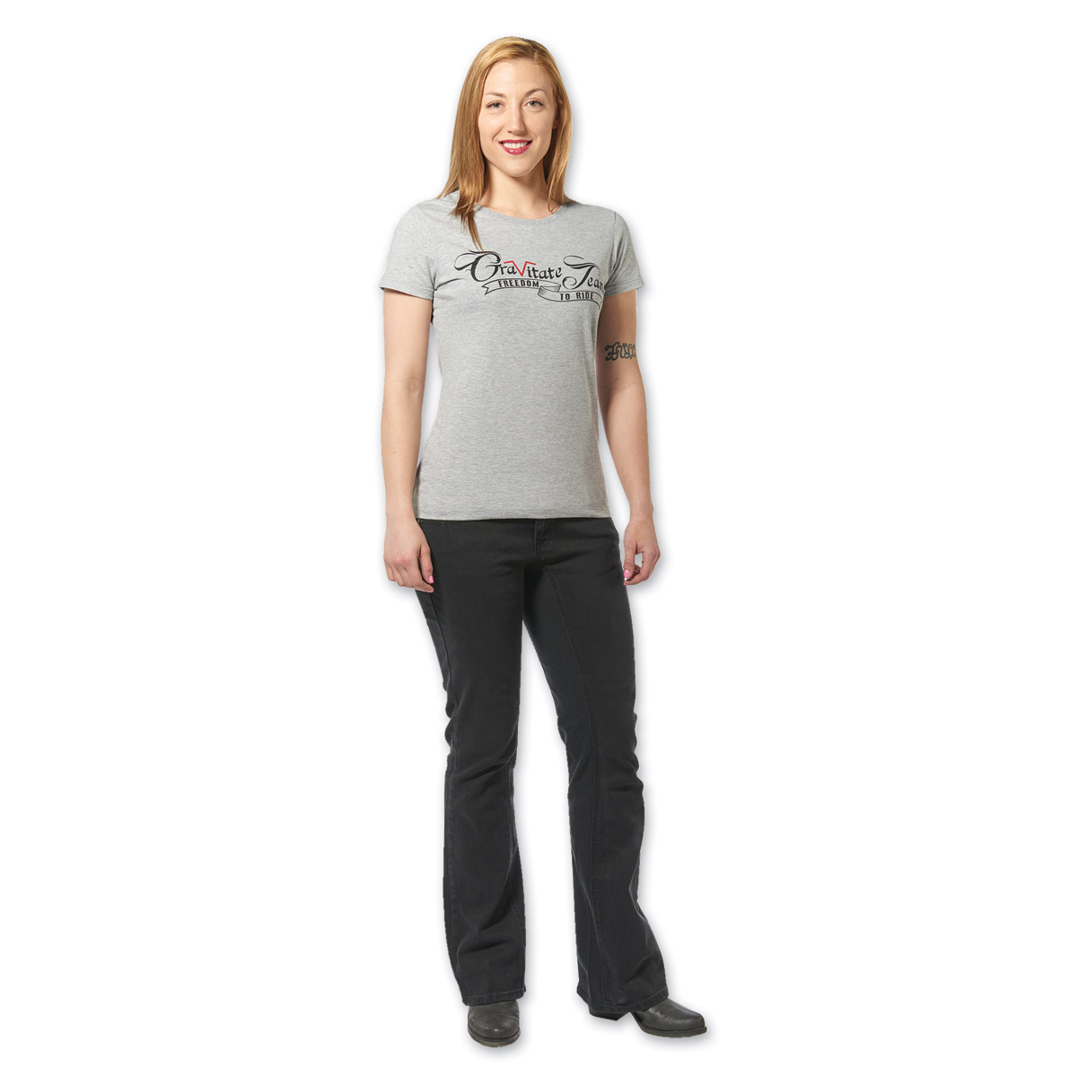 Gravitate Women's Black Motorcycle Jeans