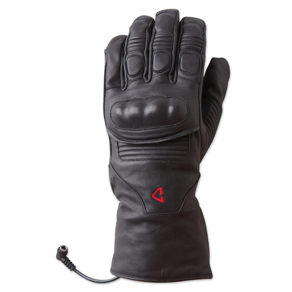 Mens black leather gloves xl - Gyde Powered By Gerbing Men S Vanguard Heated Black Leather Gloves