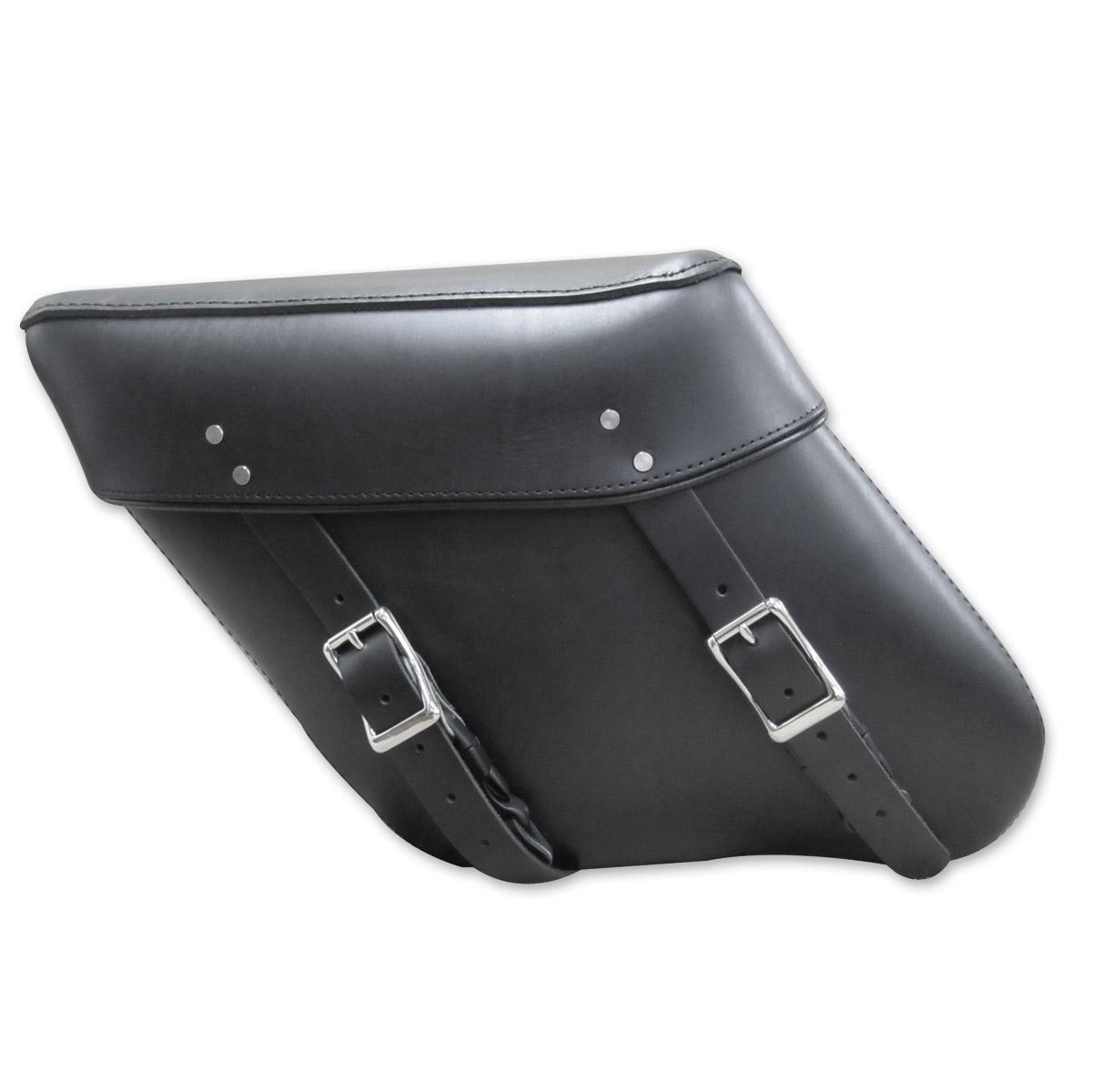 Leatherworks, Inc. Wide Angle Black Economy Bolt-On Saddlebag