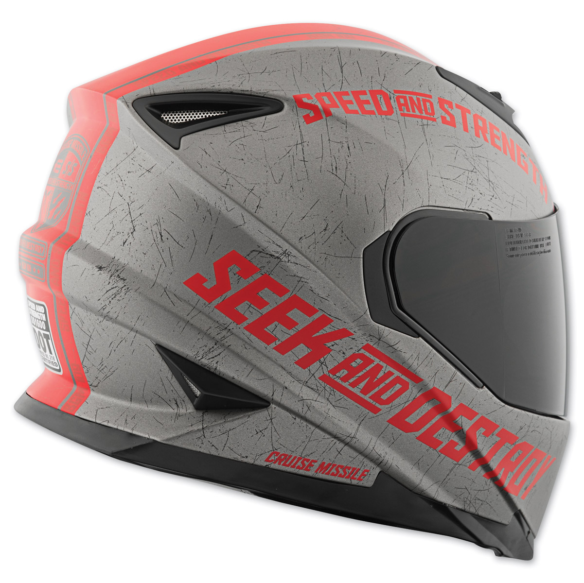 Speed And Strength Ss1600 Cruise Missile Red Full Face Helmet 212 366 J Amp P Cycles