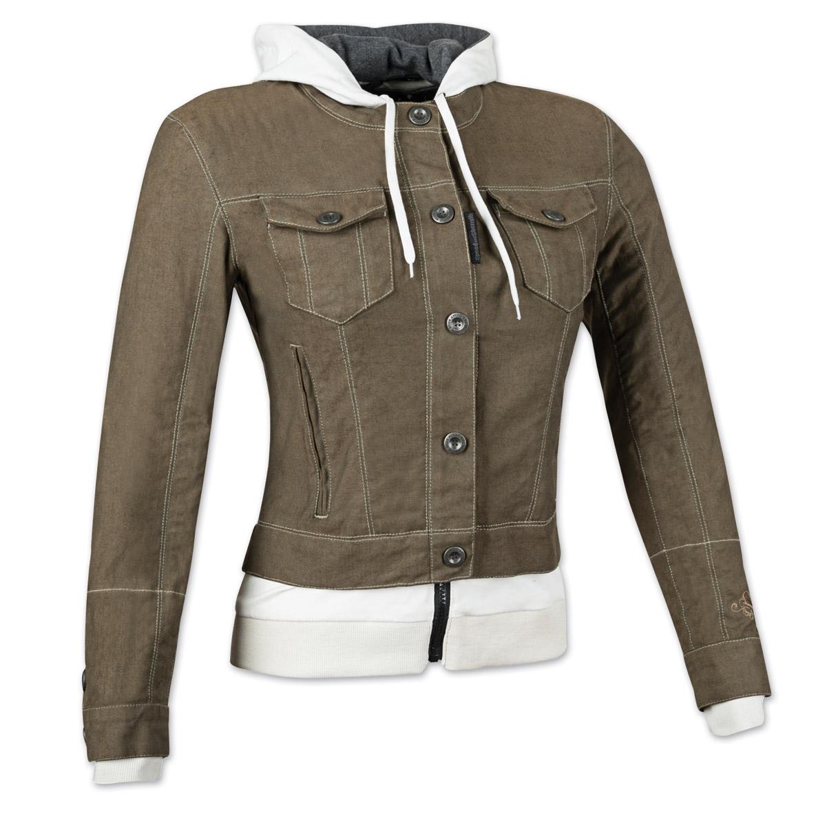 Speed and Strength Women's Fast Times Brown Denim Hoodie Jacket