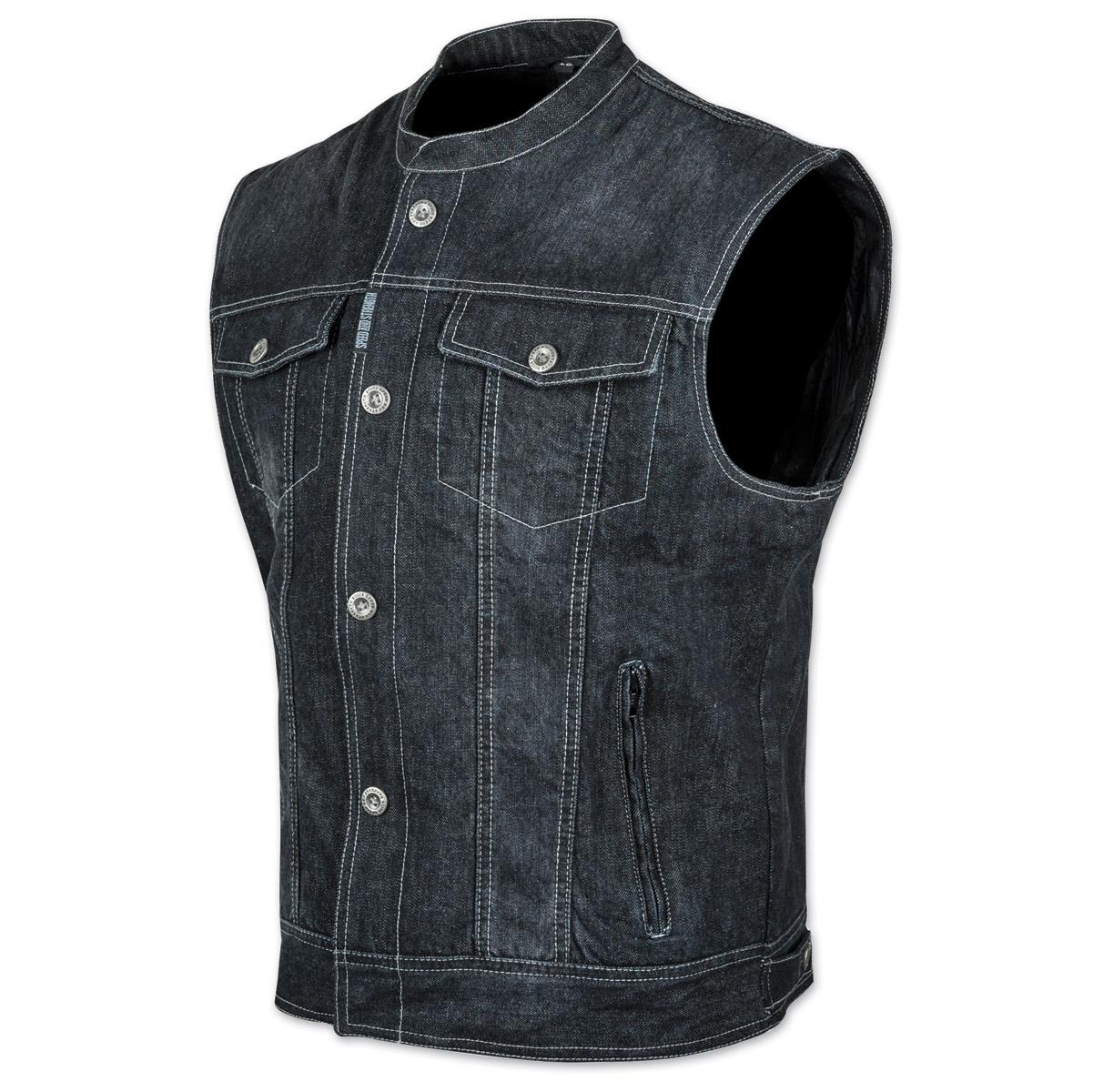 Speed and Strength Men's Soul Shaker Black Denim Vest