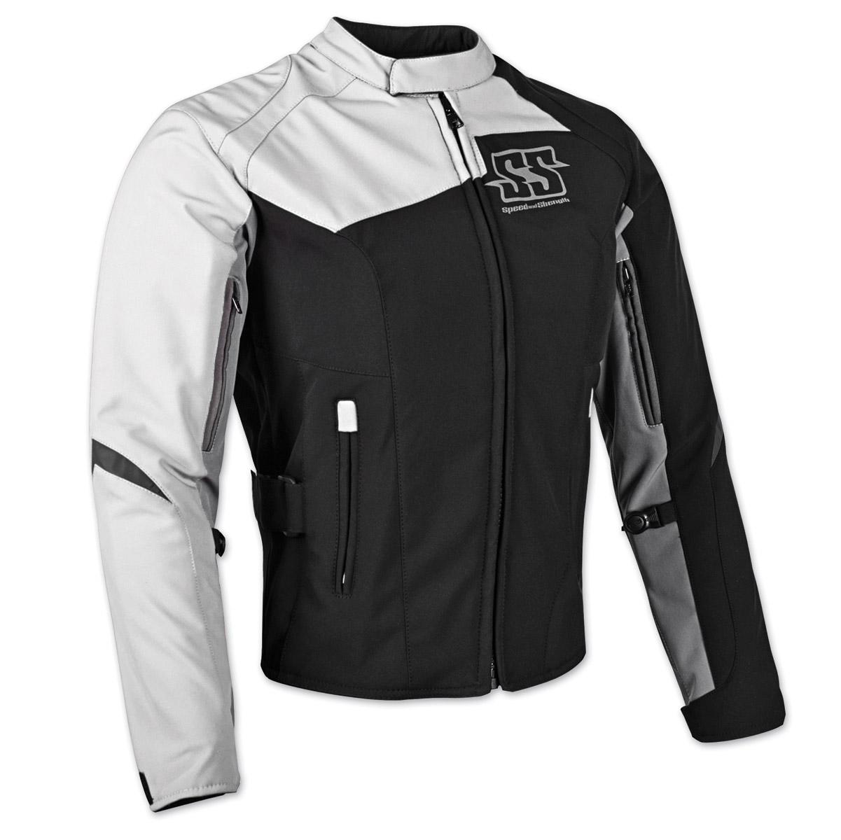 Speed and Strength Women's Back Lash Black/White Textile Jacket