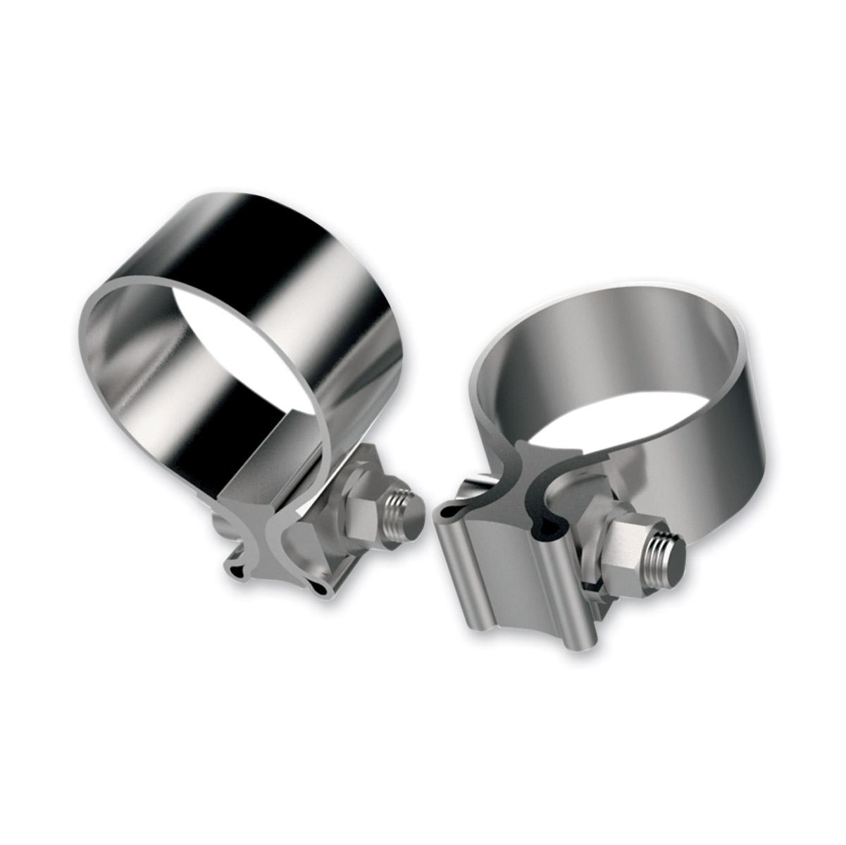 Khrome Werks Stainless Steel Muffler Clamps