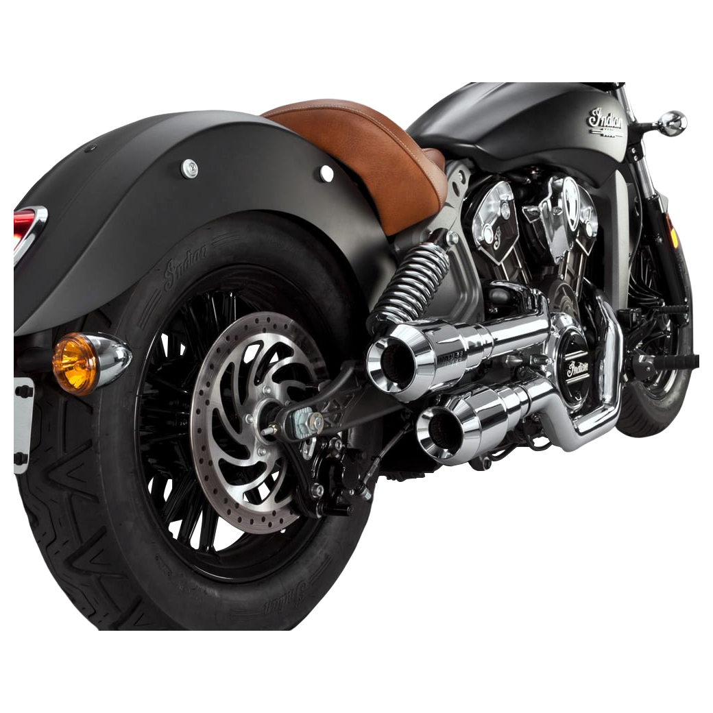 Vance & Hines 2 into 2 Hi Output Grenades Exhaust Chrome with Chrome End Caps