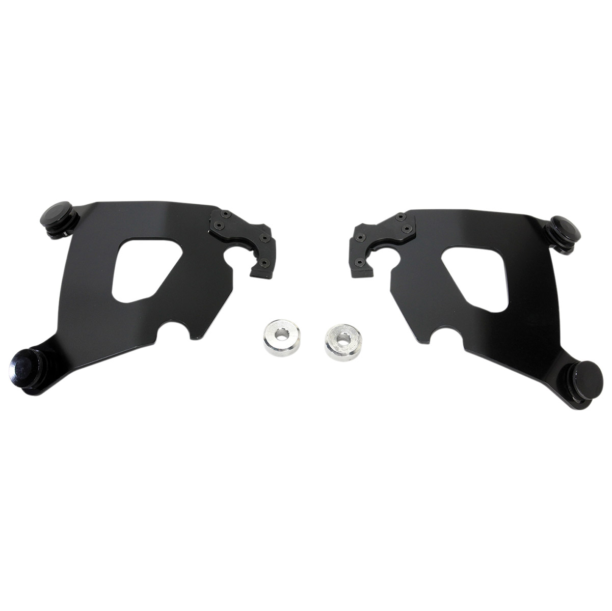 Memphis Shades Cafe Fairing Black Mounting Plates Only