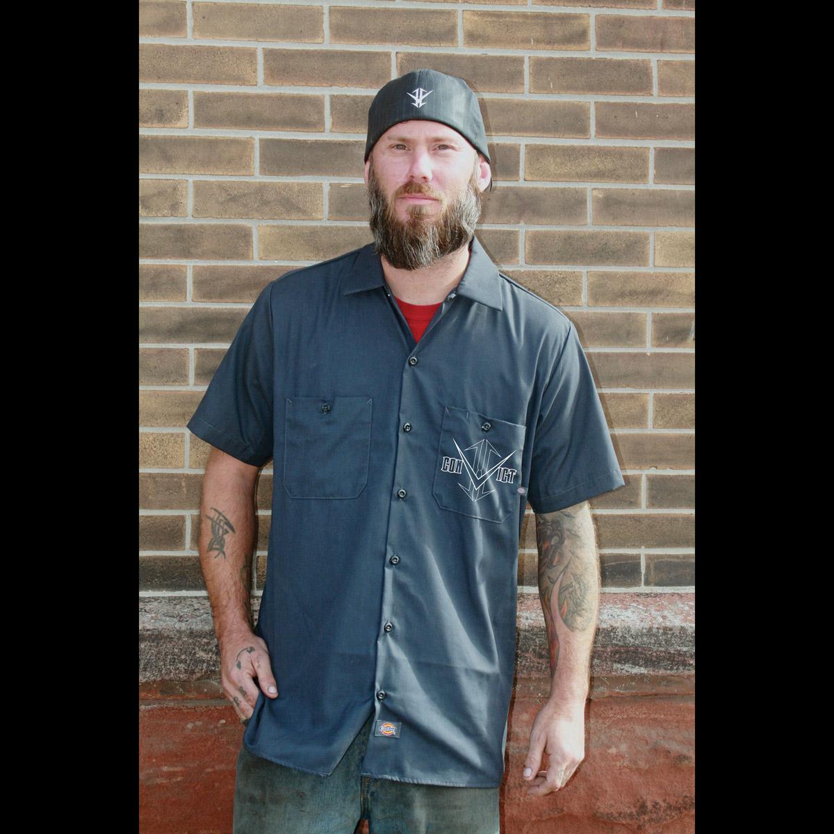 Convict Customz Men's Evidence Charcoal Work Shirt