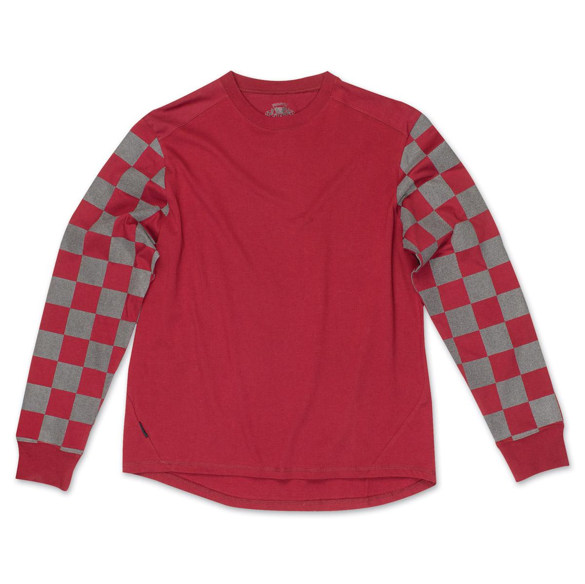 Roland Sands Design Men's Hangtown Reflective Oxblood/Black Long Sleeve T-Shirt