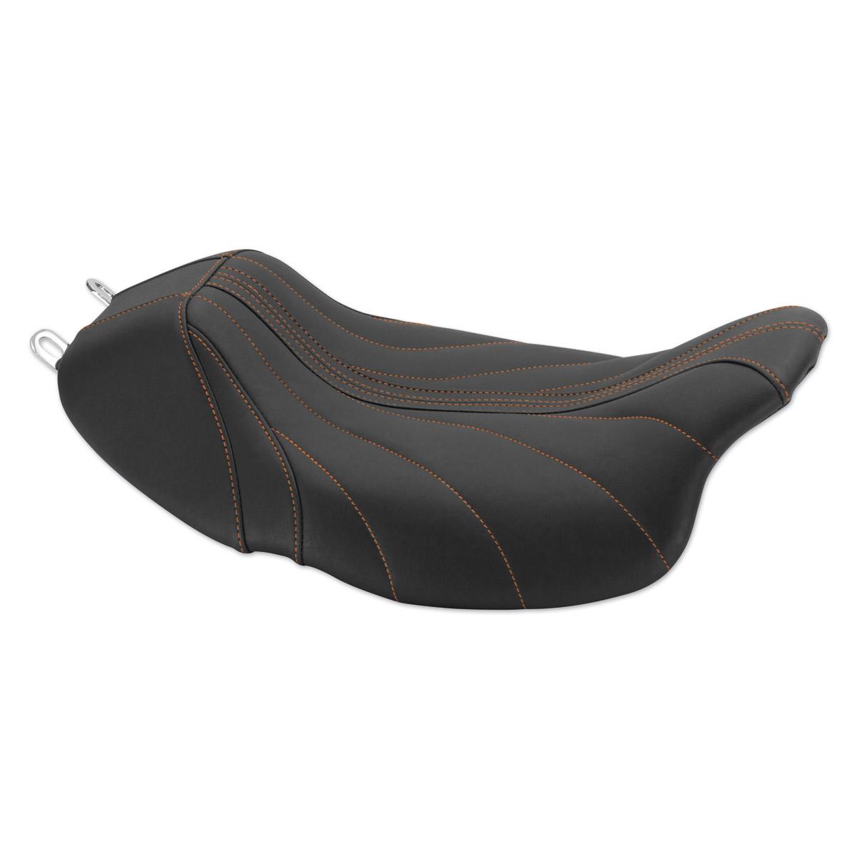 Mustang Revere Journey Gravity Mandarin Orange Thread Seat