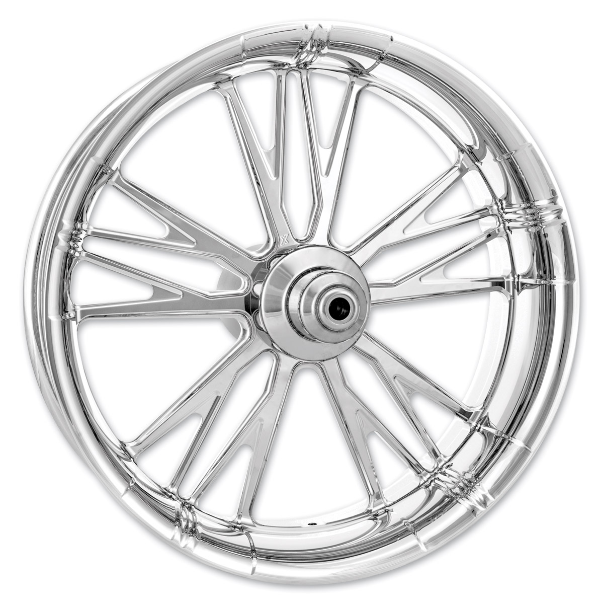 Xtreme Machine Chrome Forged Execute Front Wheel, 23″ x 3.5″ with ABS