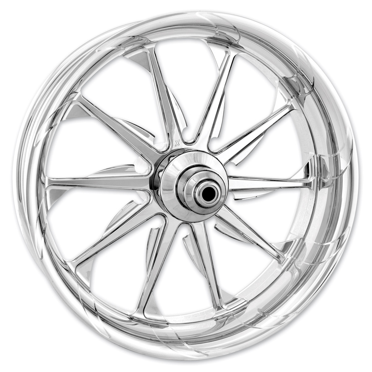 Xtreme Machine Chrome Forged Launch Front Wheel, 23″ x 3.5″ with ABS