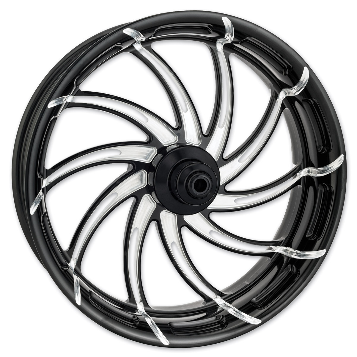 Performance Machine Supra Contrast Cut Platinum ABS Front Wheel, 23″ x 3.5″ with ABS