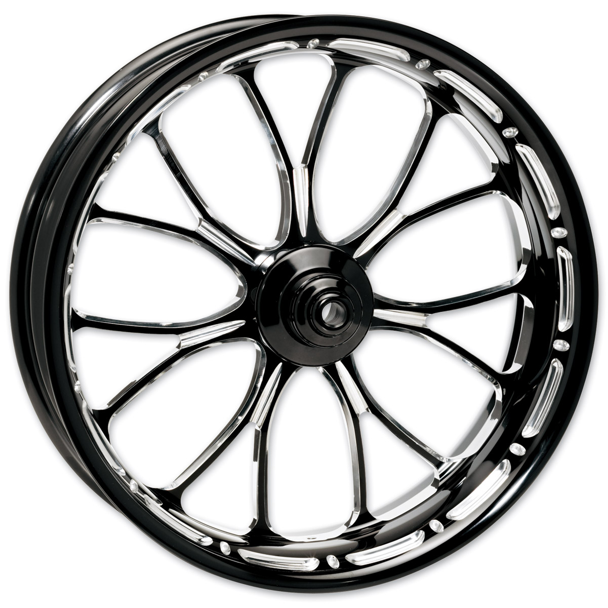 Performance Machine Contrast Cut Platinum Forged Heathen Front Wheel, 18