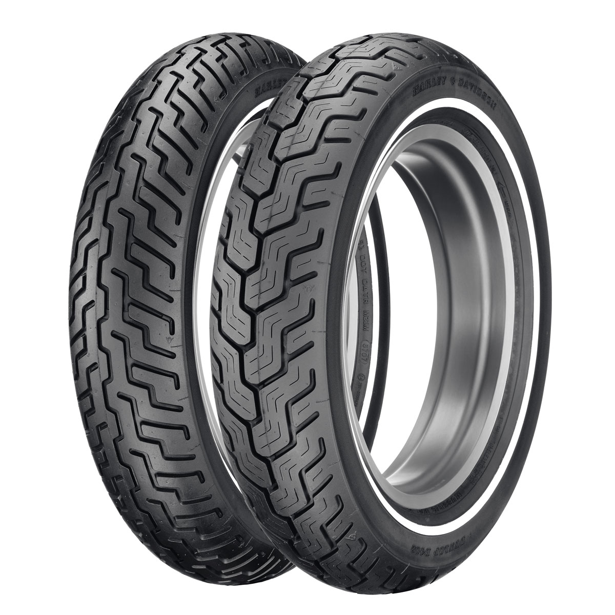 Dunlop D402 Touring MT90B16 Narrow Whitewall Front Tire