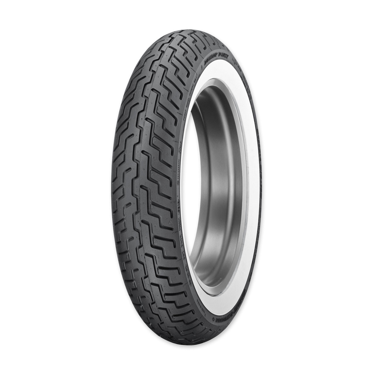 Dunlop D402 Touring MT90B16 Front Tire Wide Whitewall