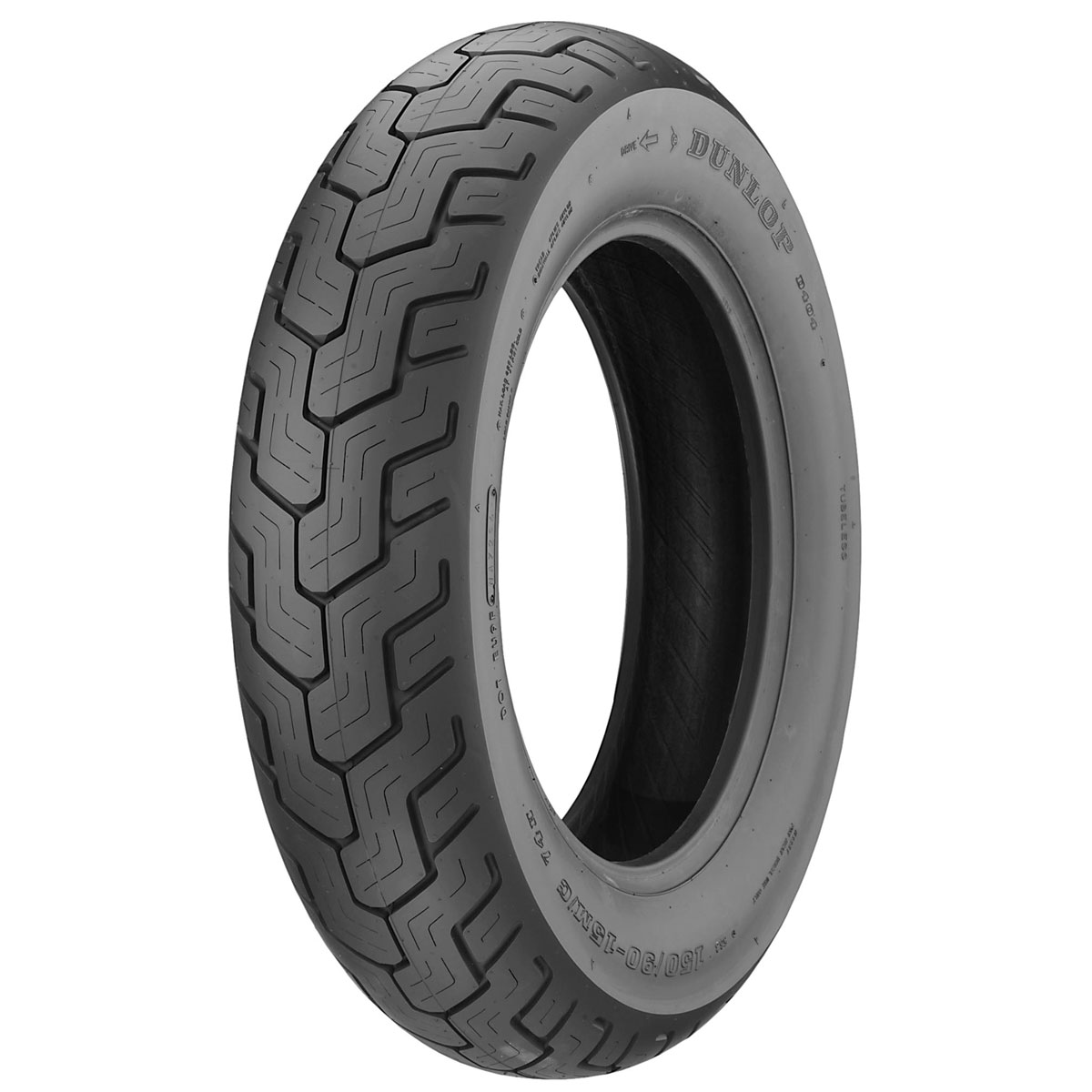 DUNLOP 150//80-16 REAR TIRE D404 HARLEY DYNA SOFTAIL SPORTSTER INDIAN CHIEF