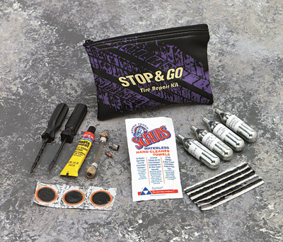 Stop & Go Tube/Tubeless CO2 Tire Repair Kit