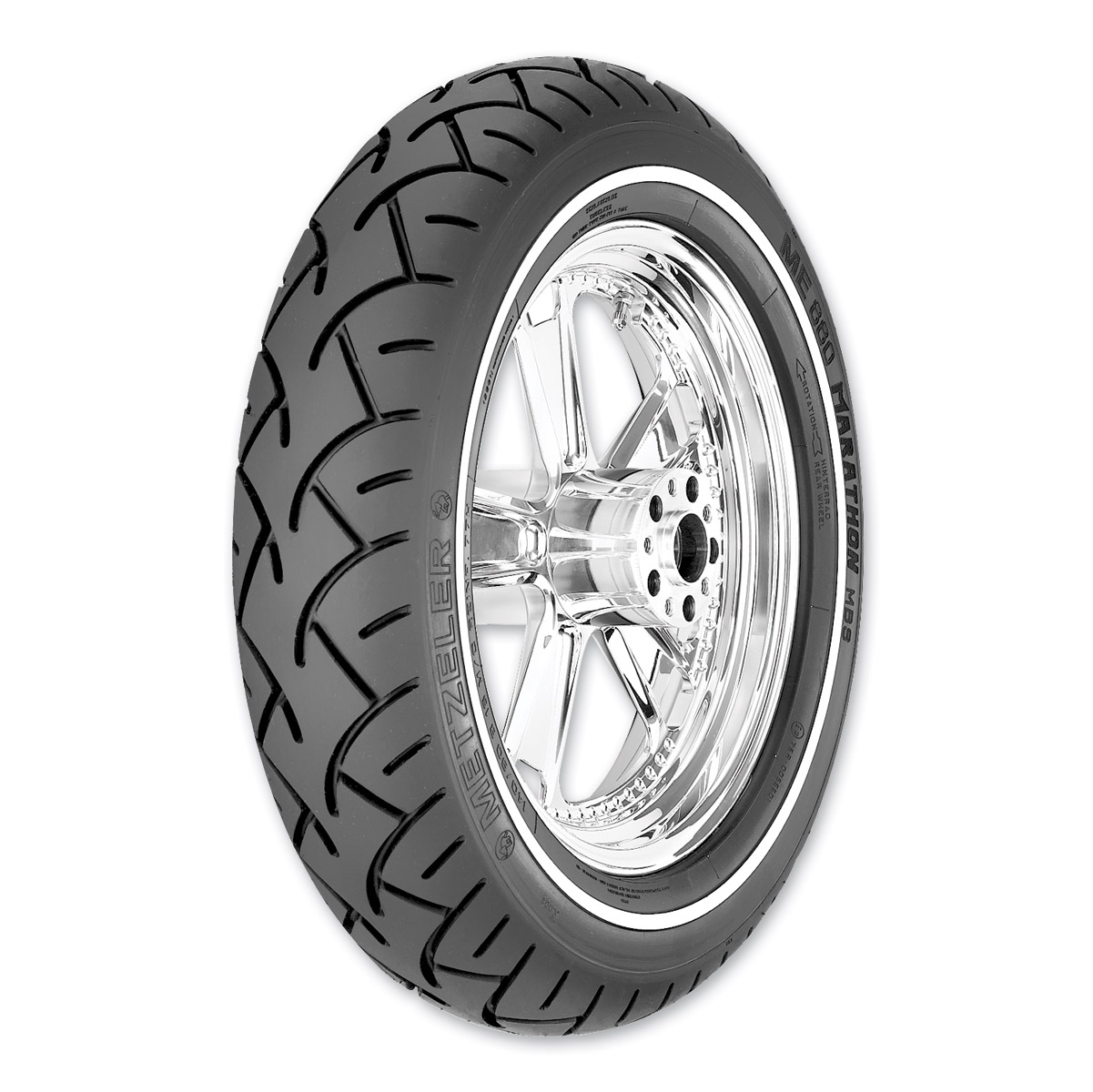 Metzeler ME880 Marathon 140/90-16 Narrow Whitewall Rear Tire