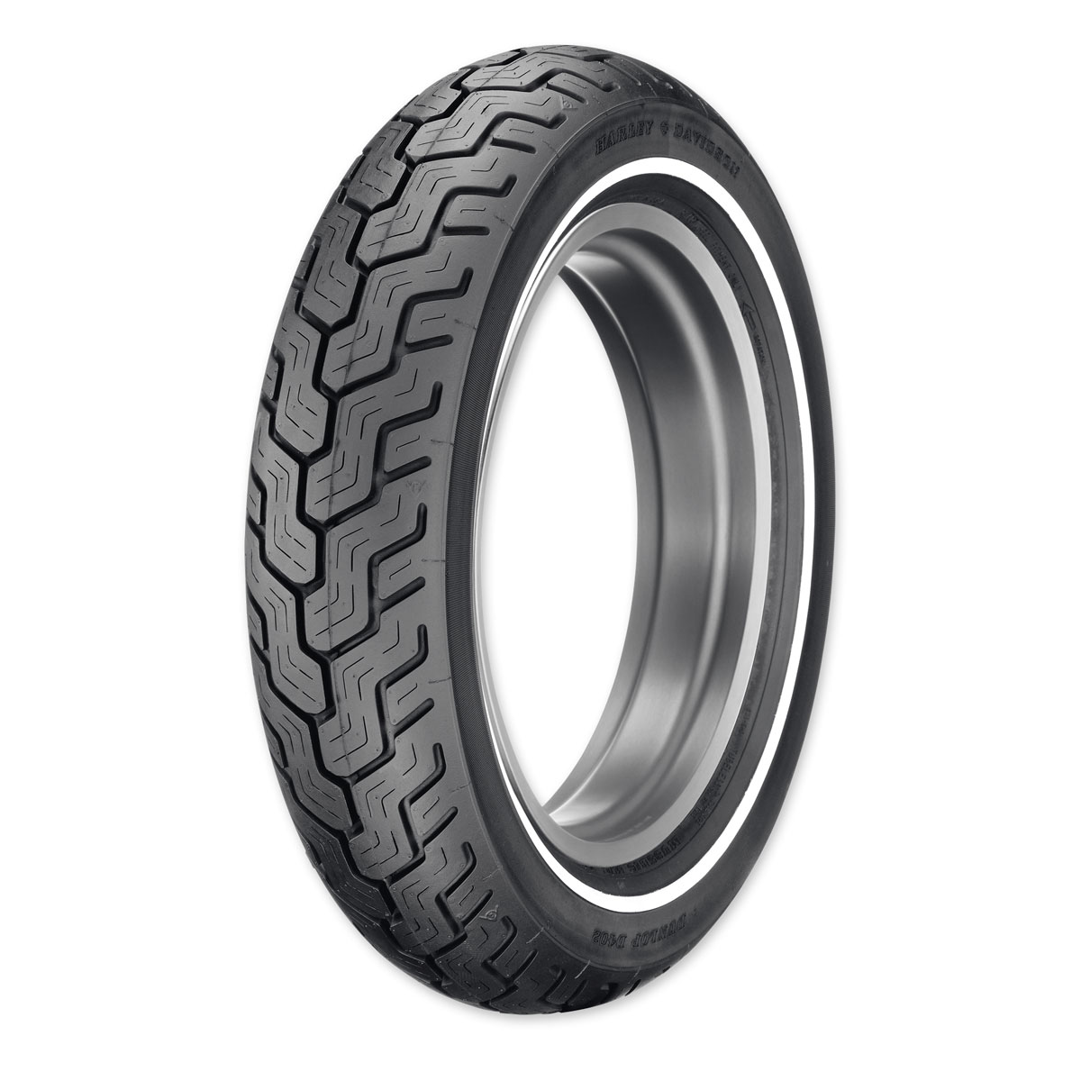 Dunlop D402 MU85B16 Narrow Whitewall Rear Tire