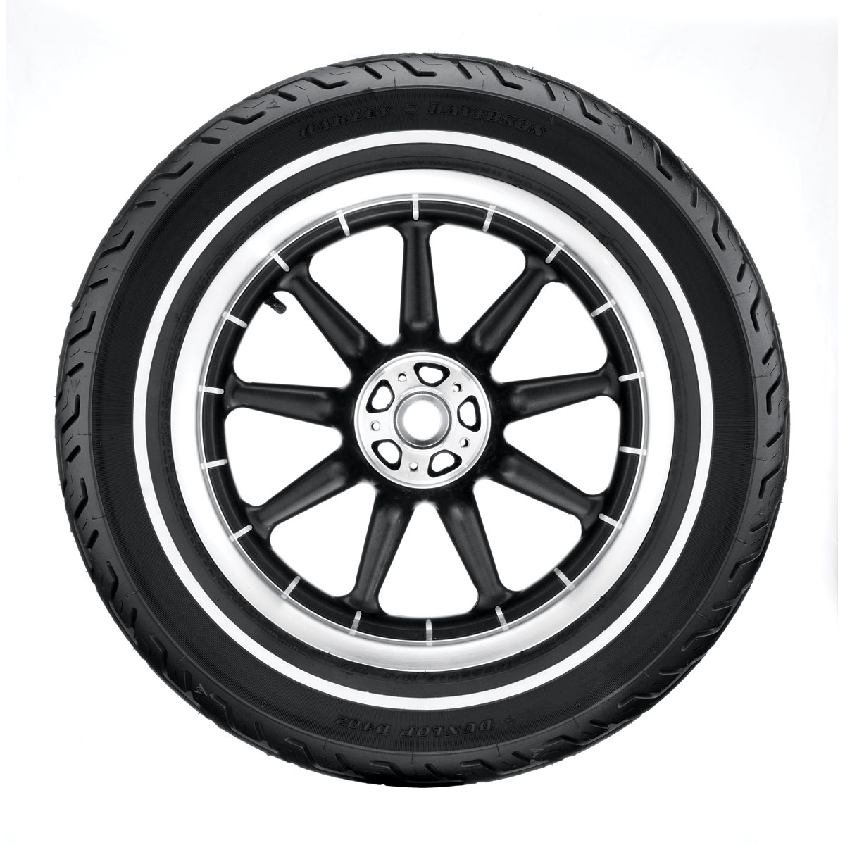 Dunlop D402 Touring MU85B16 Narrow Whitewall Rear Tire