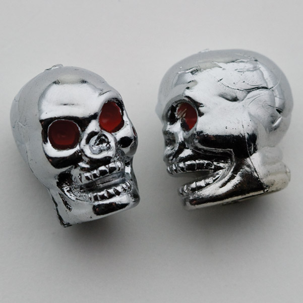 Trik Topz Chrome Skull Valve Stem Caps