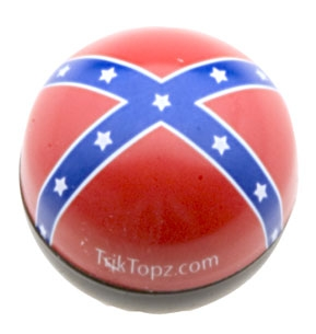 Trik Topz Rebel Flag Valve Stem Caps
