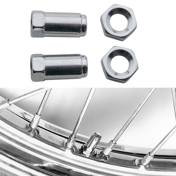 Colony Chrome Plated Brass Valve Stem Caps