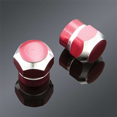 Trik Topz Red 2-tone Anodized Valve Stem Caps