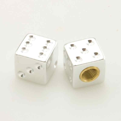 Trik Topz Chrome Dice Valve Stem Caps