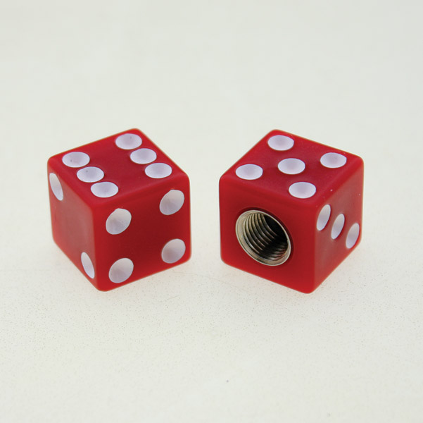 Custom Red Dice Valve Caps