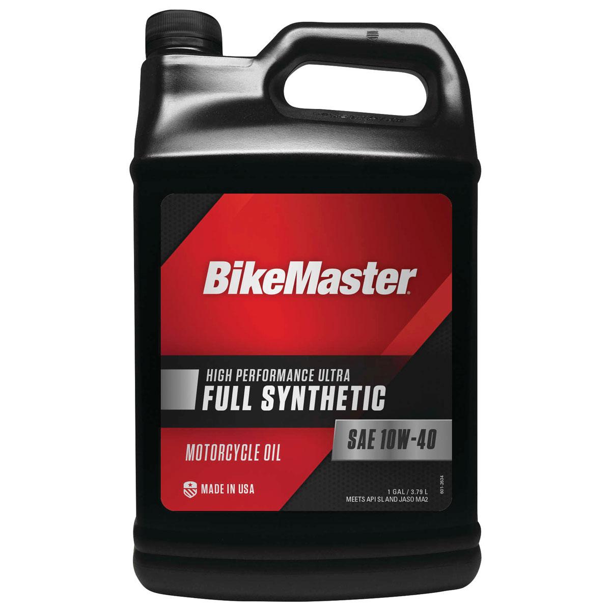 BikeMaster Full-Synthetic 10W40 Engine Oil Gallon