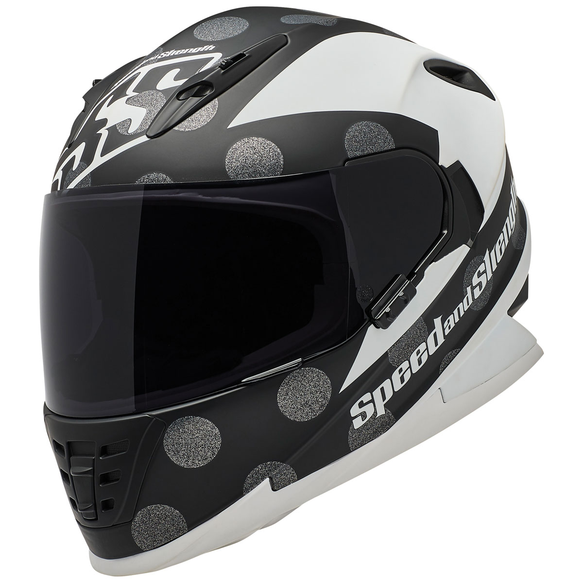 Speed and Strength SS1310 Spell Bound White/Black Full Face Helmet