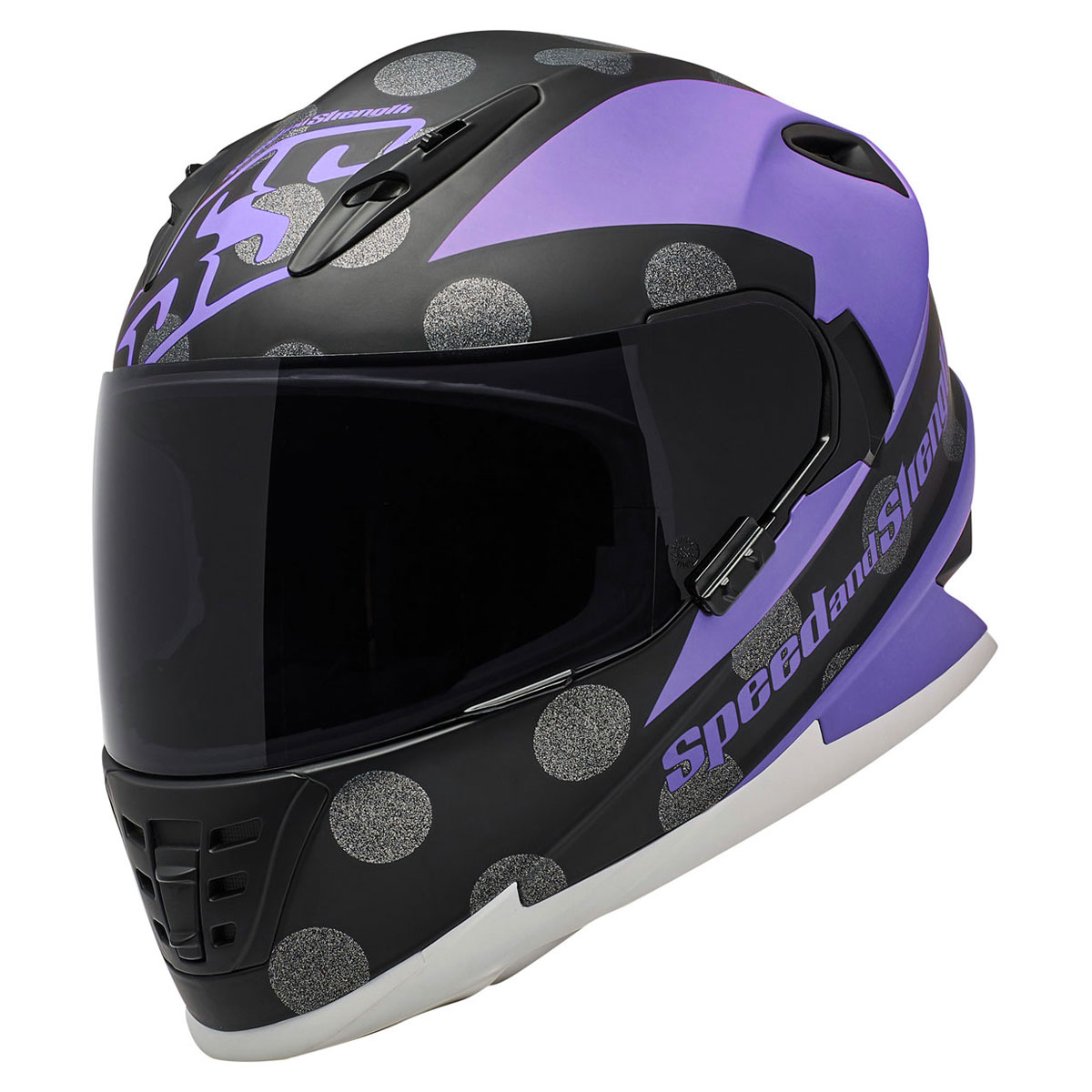Speed and Strength SS1310 Spell Bound Purple/Black Full Face Helmet