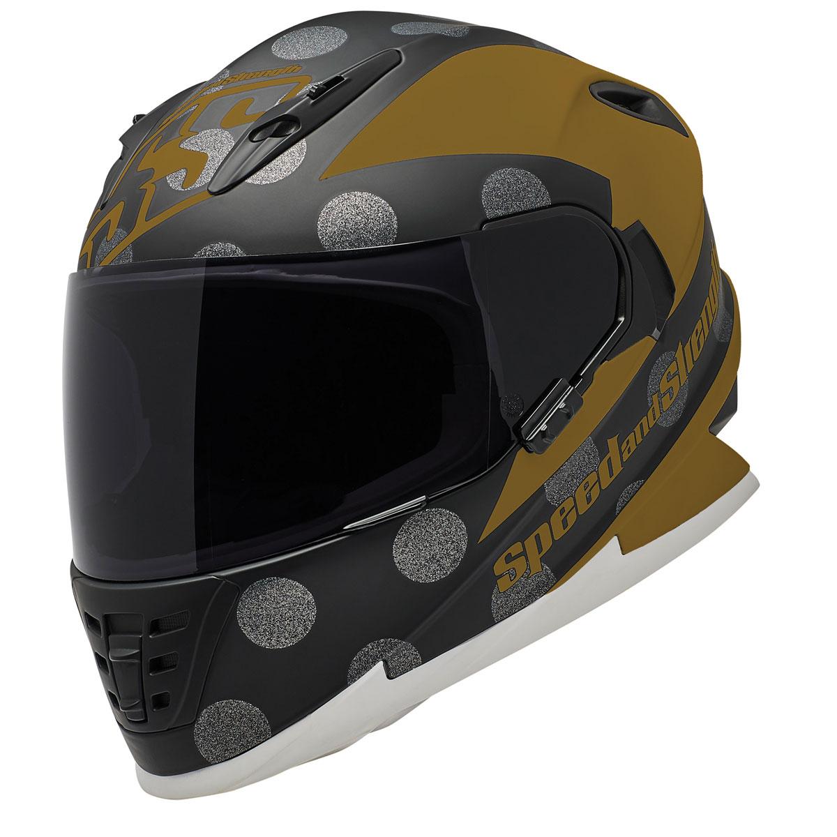 Speed and Strength SS1310 Spell Bound Gold/Black Full Face Helmet