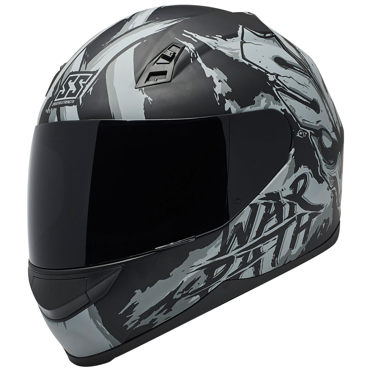 Speed and Strength SS700 War Path Black/Gray Full Face Helmet