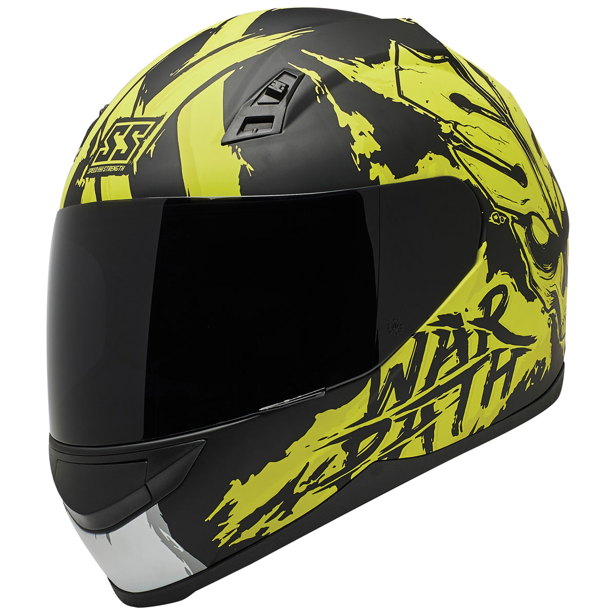 Speed and Strength SS700 War Path Hi-Viz/Black Full Face Helmet