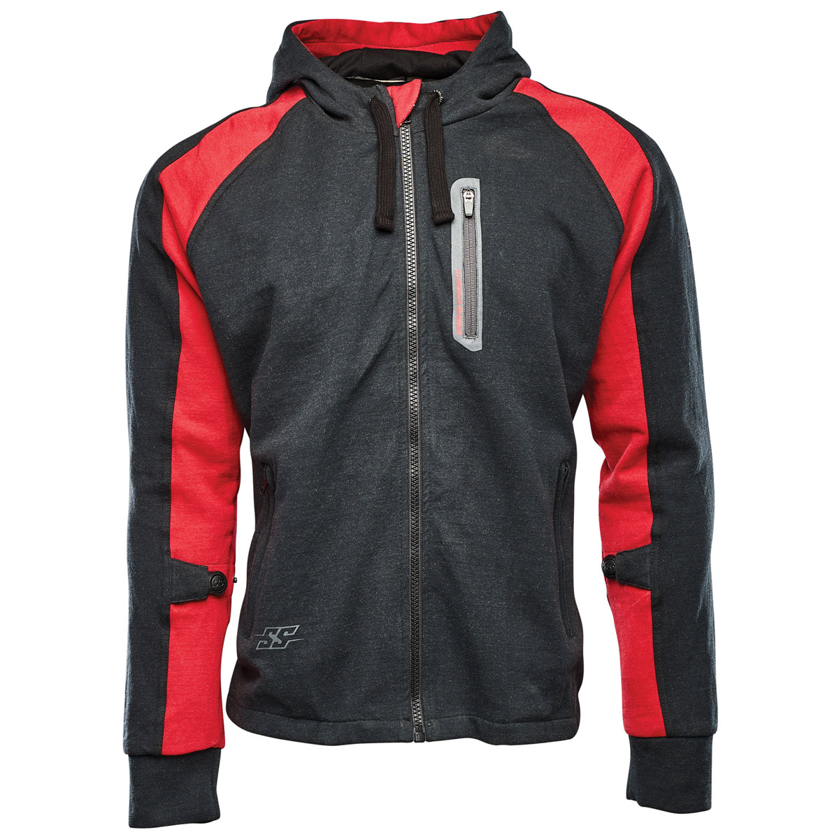 Speed and Strength Men's Run with the Bulls Red/Black Armored Hoodie
