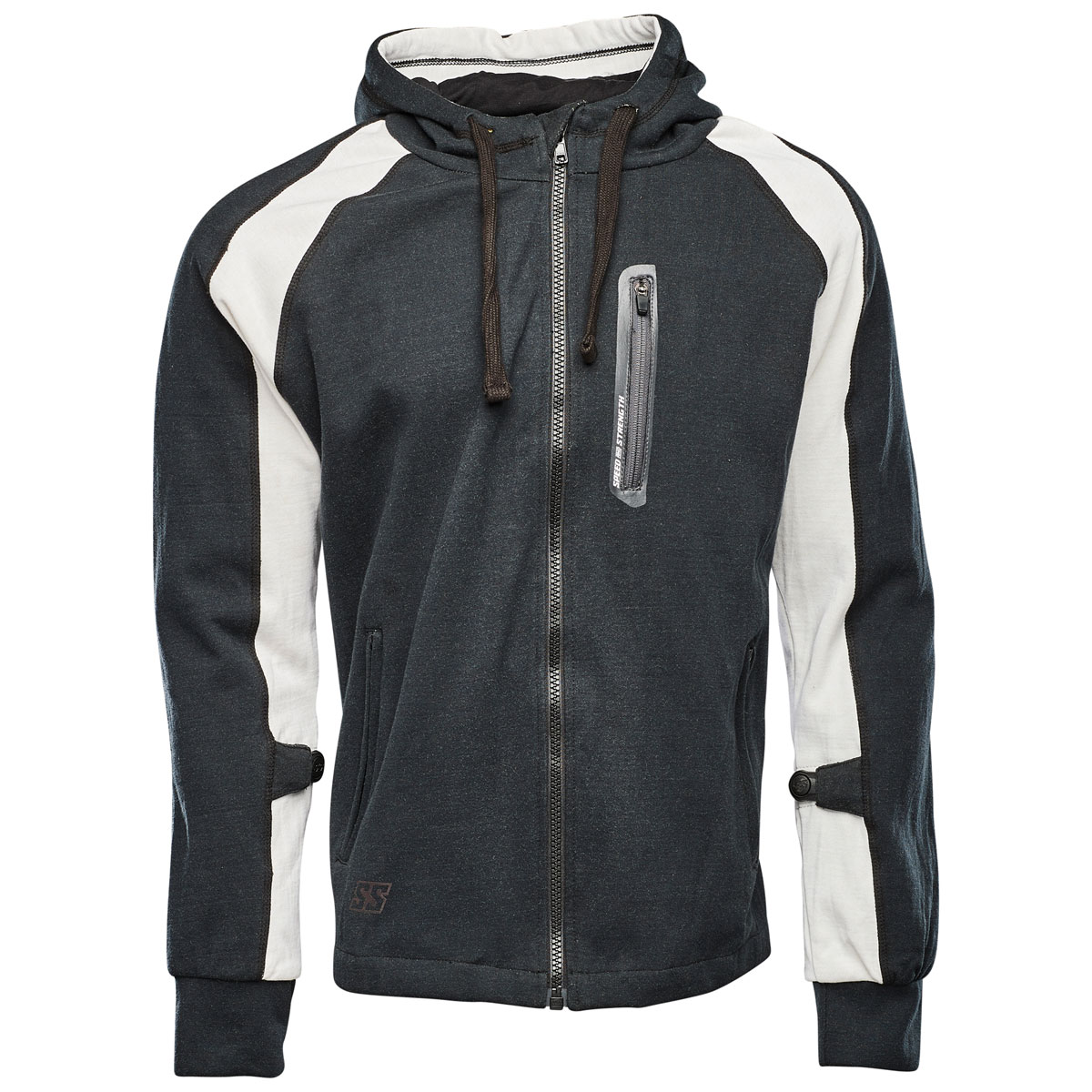 Speed and Strength Men's Run with the Bulls White/Black Armored Hoodie