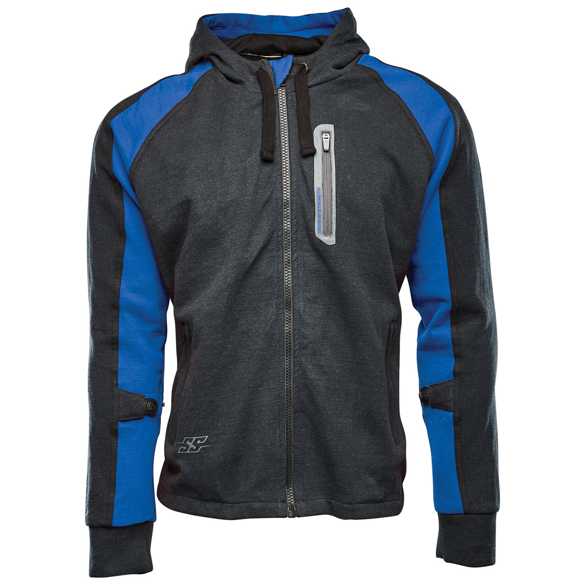 Speed and Strength Men's Run with the Bulls Blue/Black Armored Hoodie