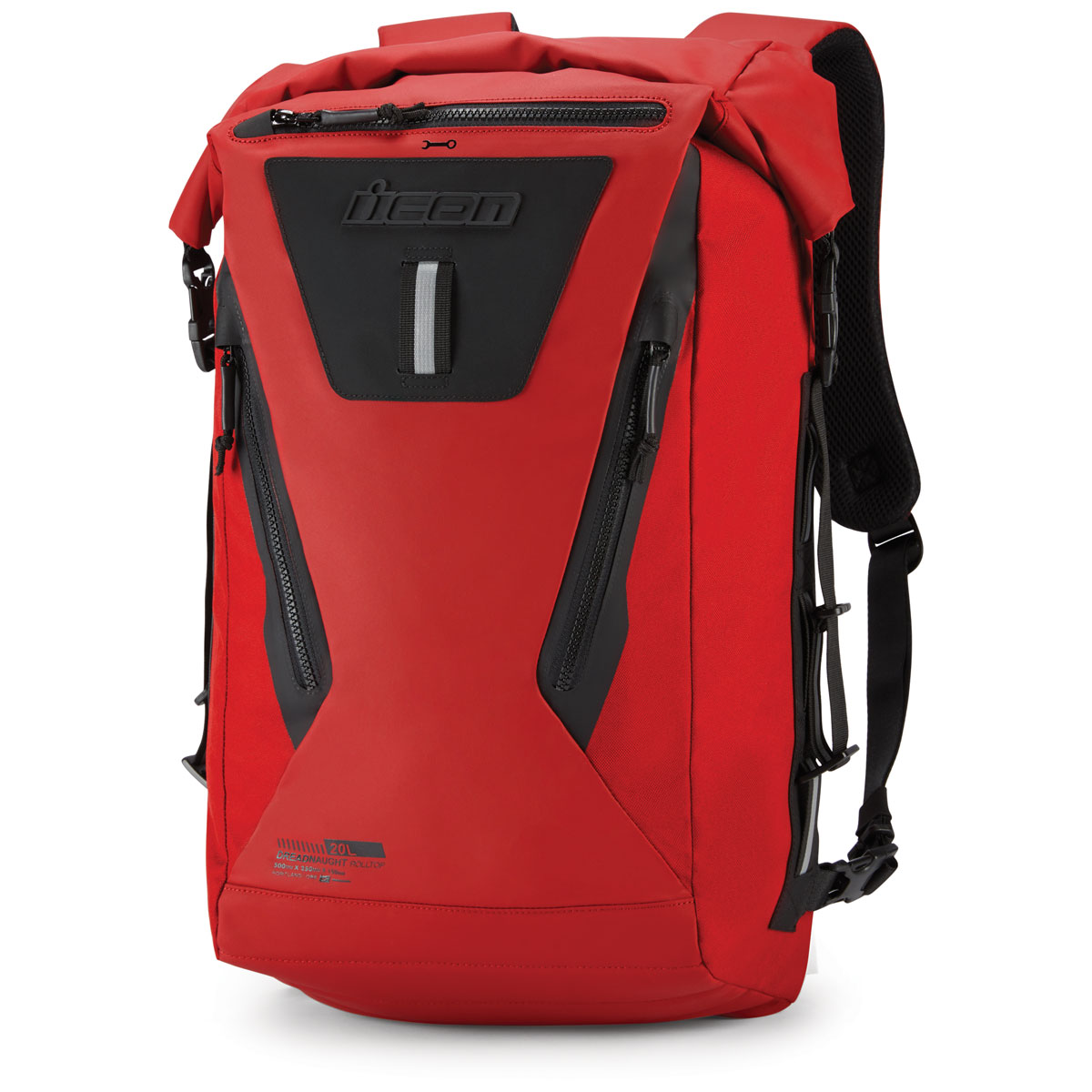ICON One Thousand Dreadnaught Rolltop Backpack Red