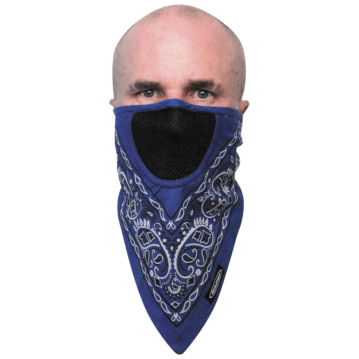 Schampa FaceFit Blue Paisley Tieback Face Mask