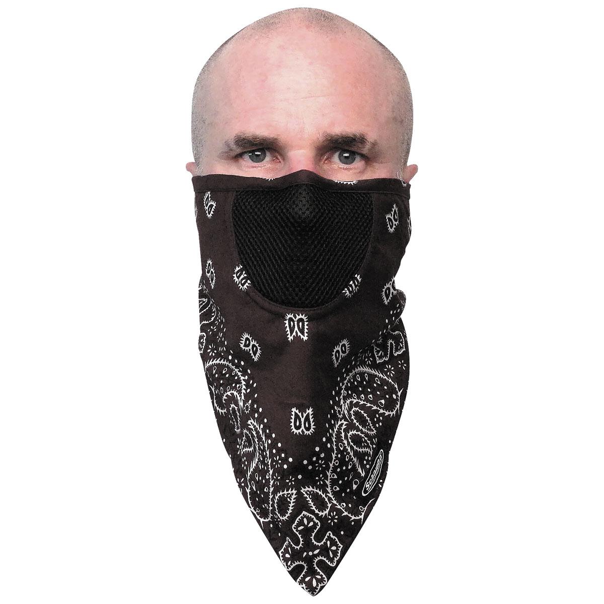 Schampa FaceFit Brown Paisley Tieback Face Mask