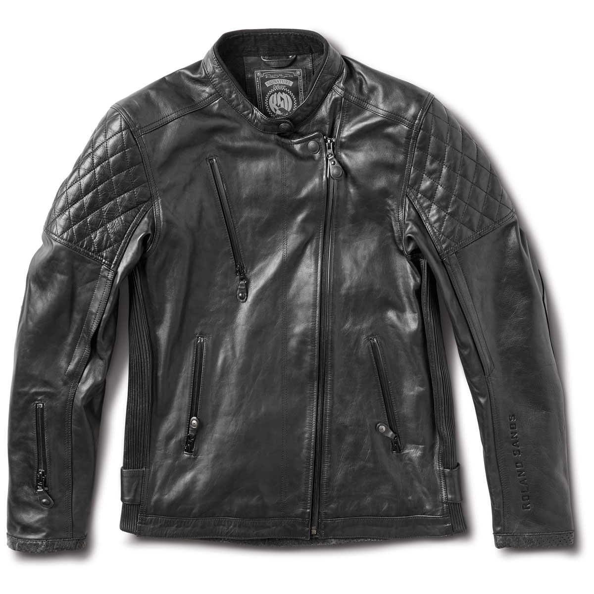 Roland Sands Design Apparel Men's Clash RS Signature Black Leather Jacket