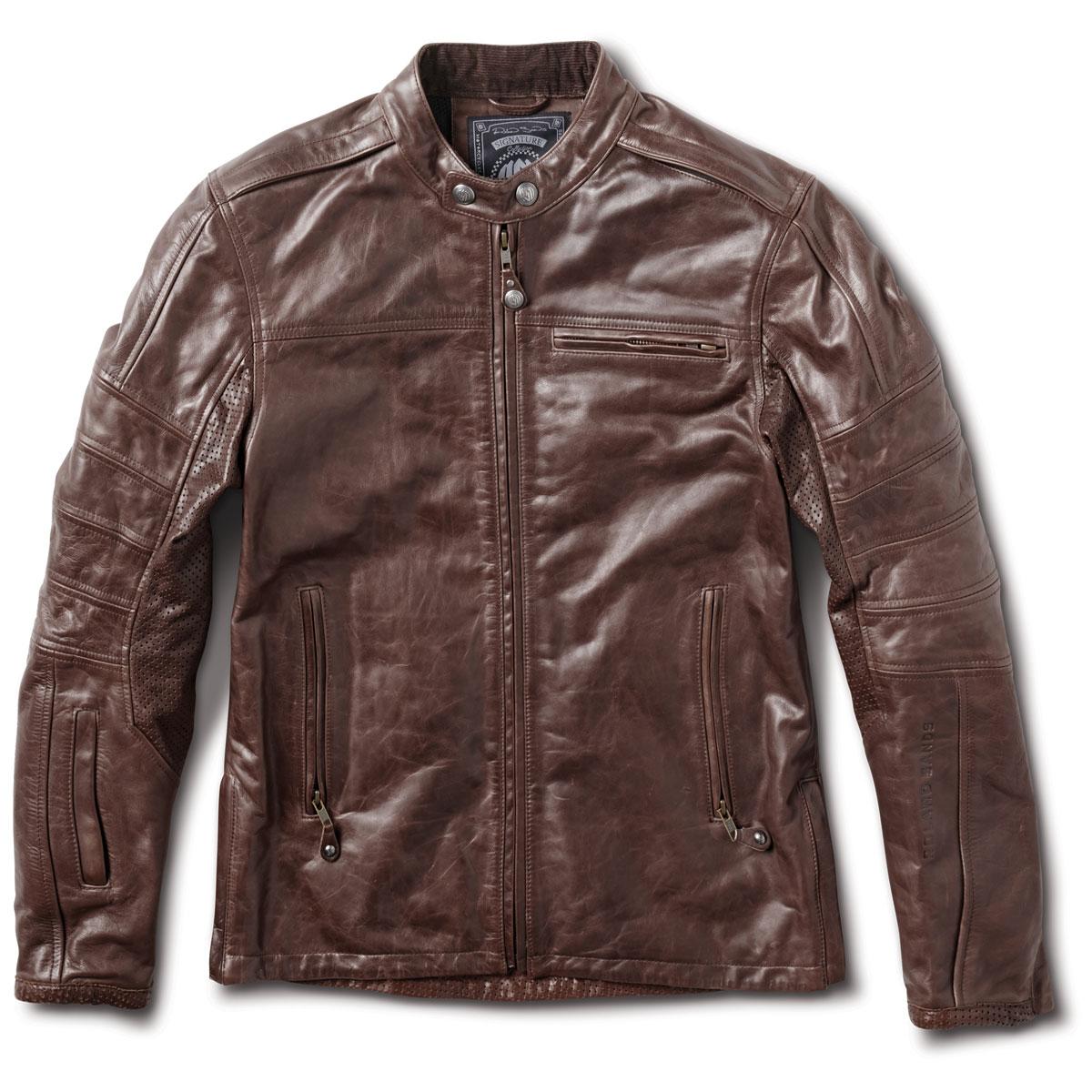 597542b42 Roland Sands Design Apparel Men's Ronin RS Signature Tobacco Leather Jacket  - RD8745