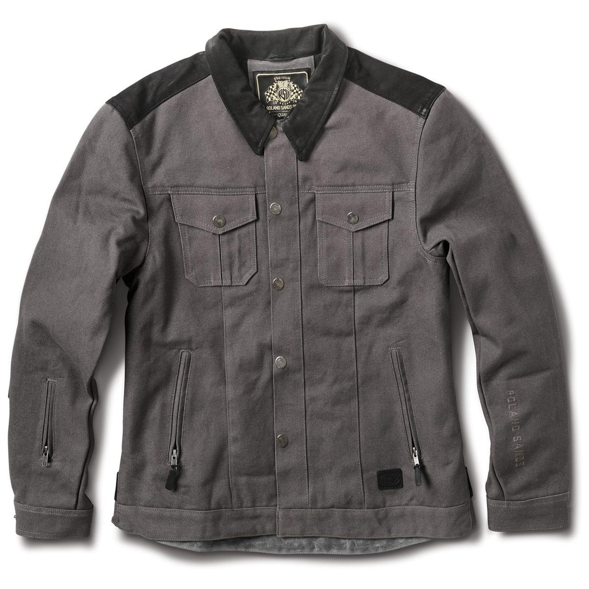 Roland Sands Design Apparel Men's Waylon Gray Textile Jacket