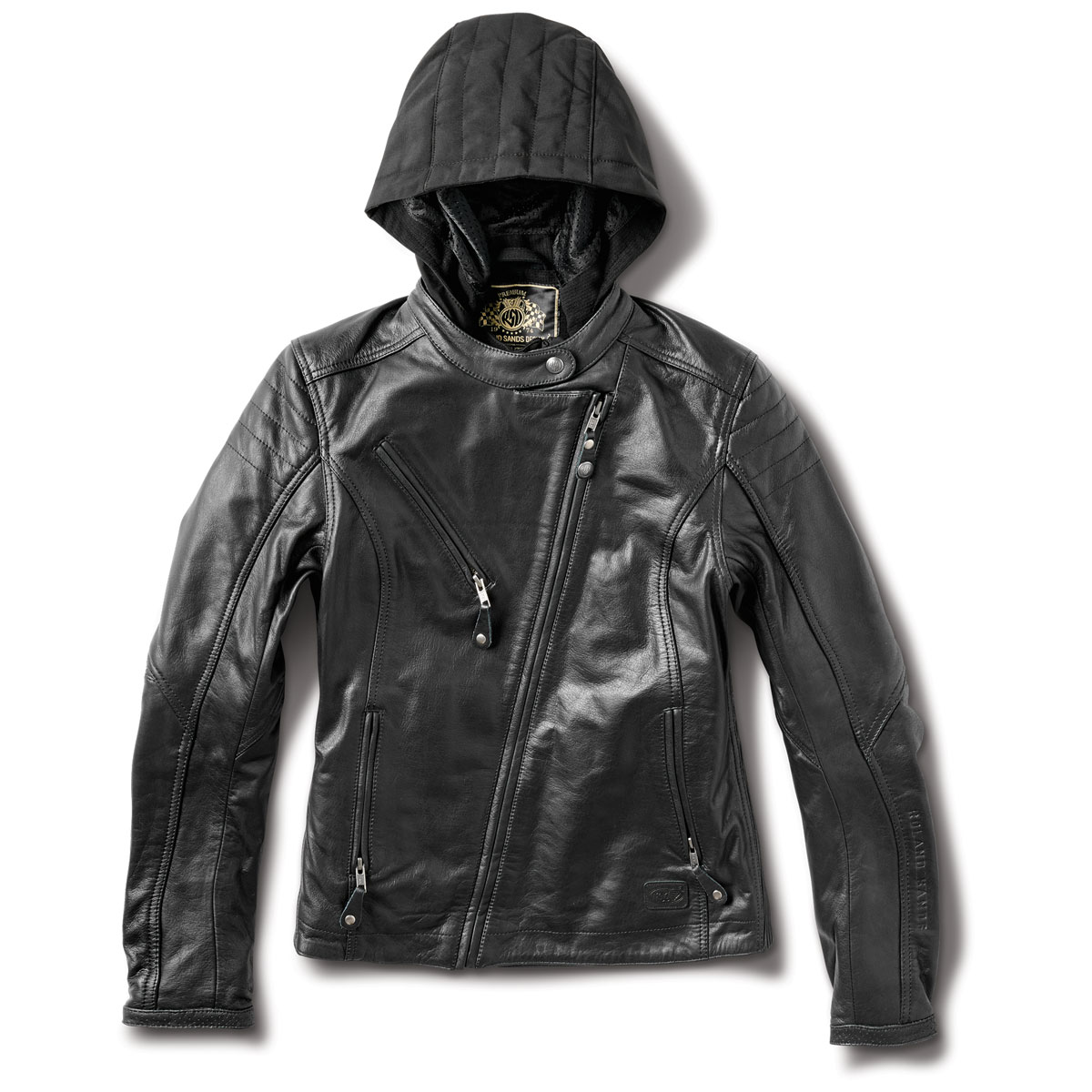 47e2df906 Roland Sands Design Apparel Women's Mia Black Leather Jacket - RD8841