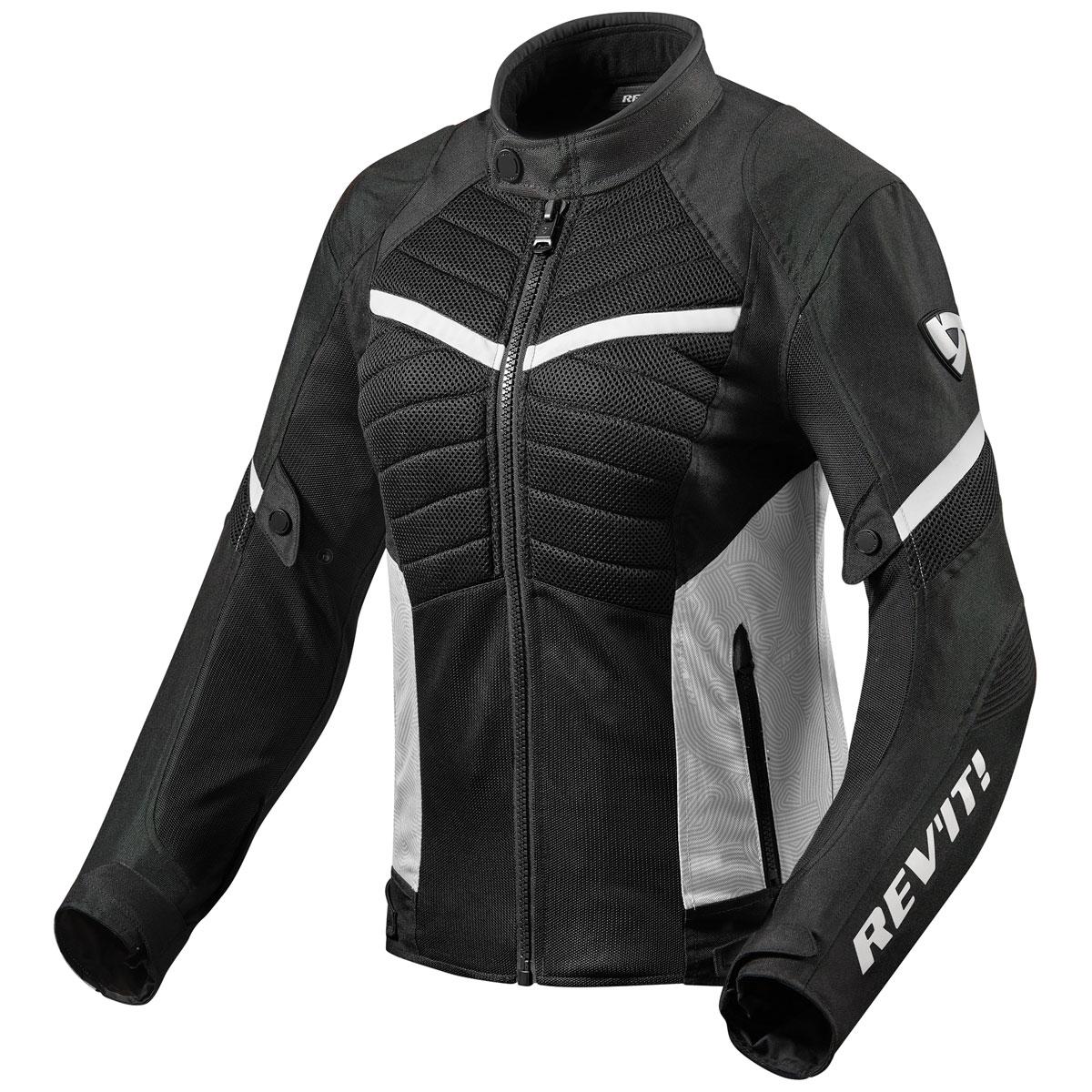 REV′IT! Women's Arc Air Black/White Textile Jacket