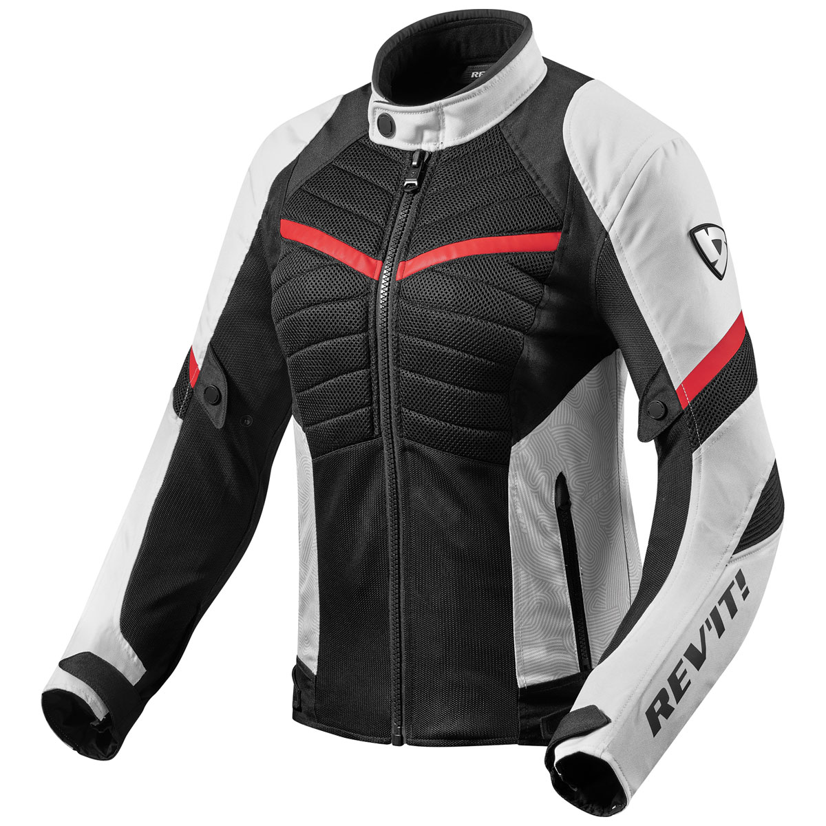 REV'IT! Women's Arc Air White/Red Textile Jacket