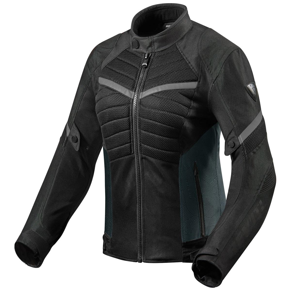 REV′IT! Women's Arc Air Black/Gray Textile Jacket